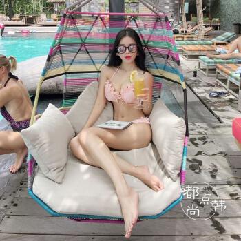 花弁ピンク3時セク胸寄せば、ストスチールのセクシー水着水着ディップシームカーバー温泉に肉ピンクLを泳がせます。