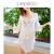韓国版ビクトゥーチ防〓タウ2018夏新しく入荷した透かし編み模様ビキニの外にカバースカートの白色の平均サイズを掛けます。