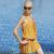 ZOKE(ZOKE)スカート上下別ビキニ水着小胸鋼托せバーストシステムカーバー新入荷セクシー泳いでいます。レイテス3点セト黄地紫点_1 XL
