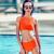 ZOKE(ZOKE)水着レディス上下别小ボブサワー水着せーバ欧米温泉はオレンジ色のLを持っています。
